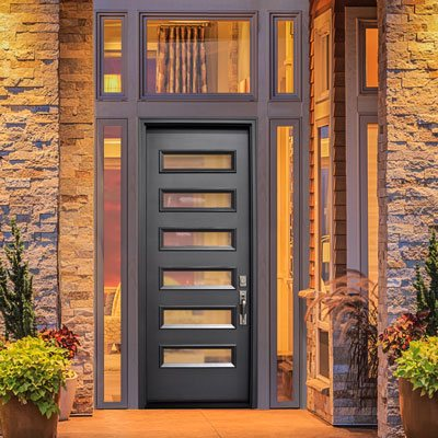 modern contemporary front door Houston