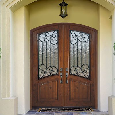 Wrought Iron Front Door in Spring Tx