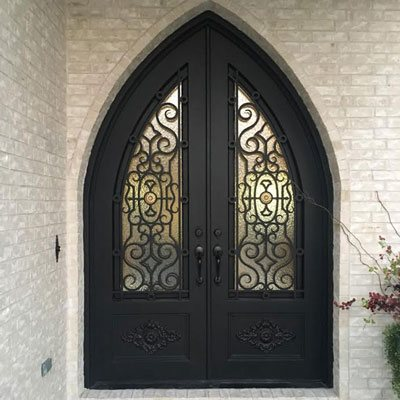 Forged Iron Front Entry Doors