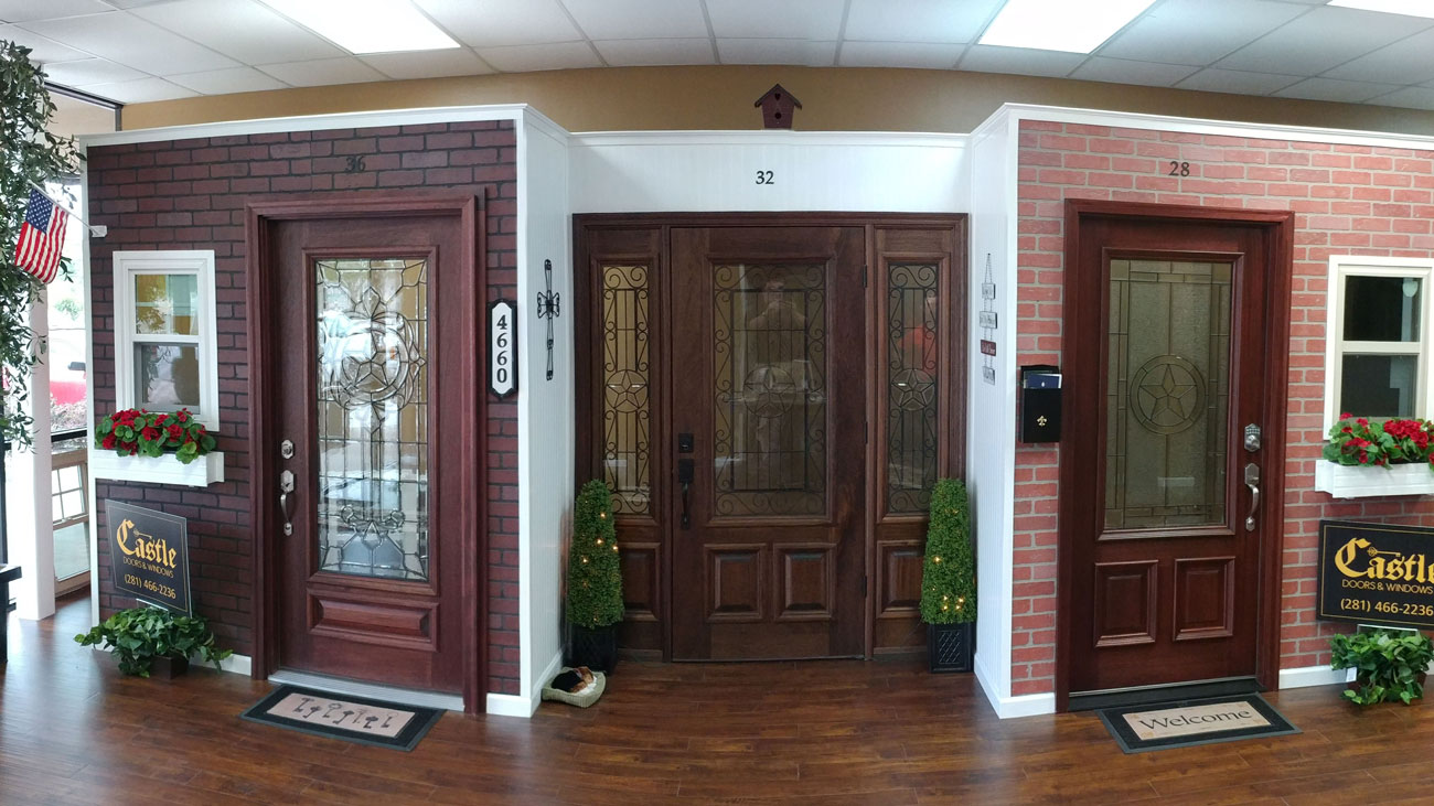 Castle doors & Windows showroom