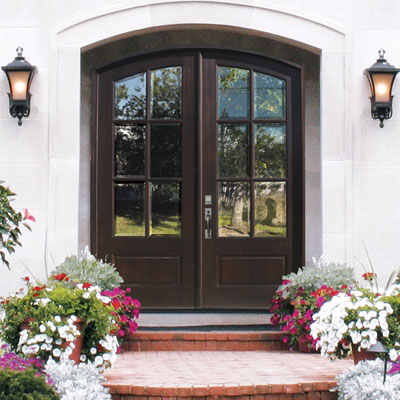 Tru divided light double entry door in the woodlands