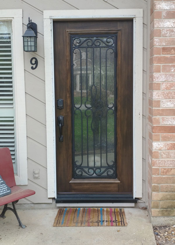 wrought iron replacement door project after pic