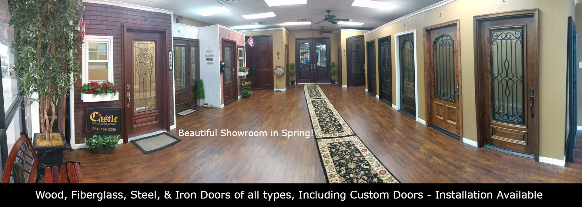 Castle Doors & More Spring TX | Vinyl Windows, & Woodworking